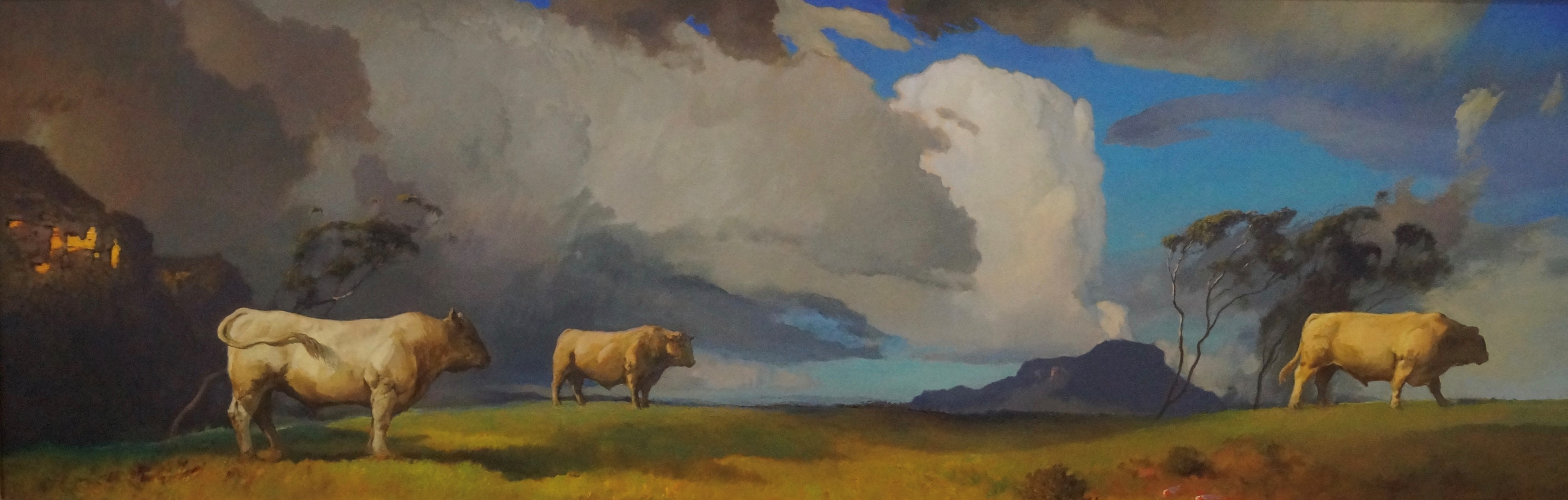 "2019 Peabody Wilpinjong Prize for Hanging Art - Graham Cox ""Stormy Pastoral"""