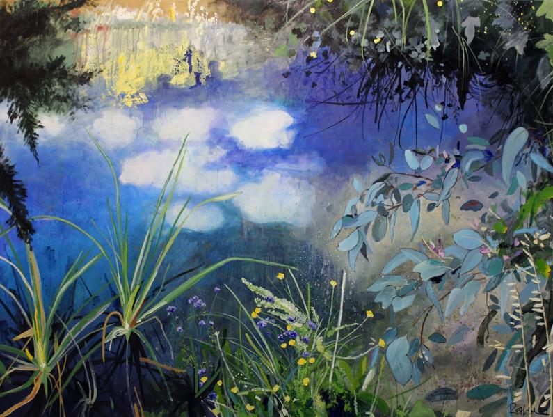 """2018 Peabody Wilpinjong Prize For Hanging Art  Winner:  Rachel Melchers """"Spring Musing"""""""