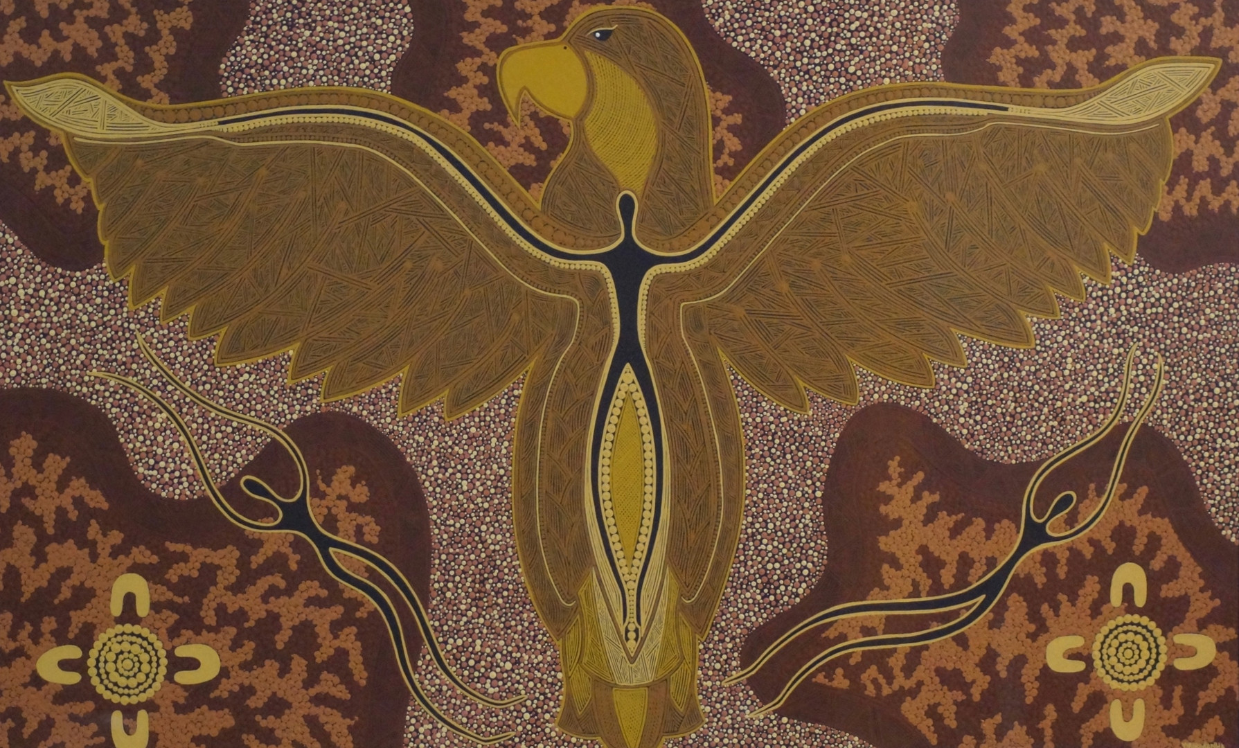 """2018 Orana Arts Indigenous Artist Prize: Stephen Moore """"Above The Clouds"""""""