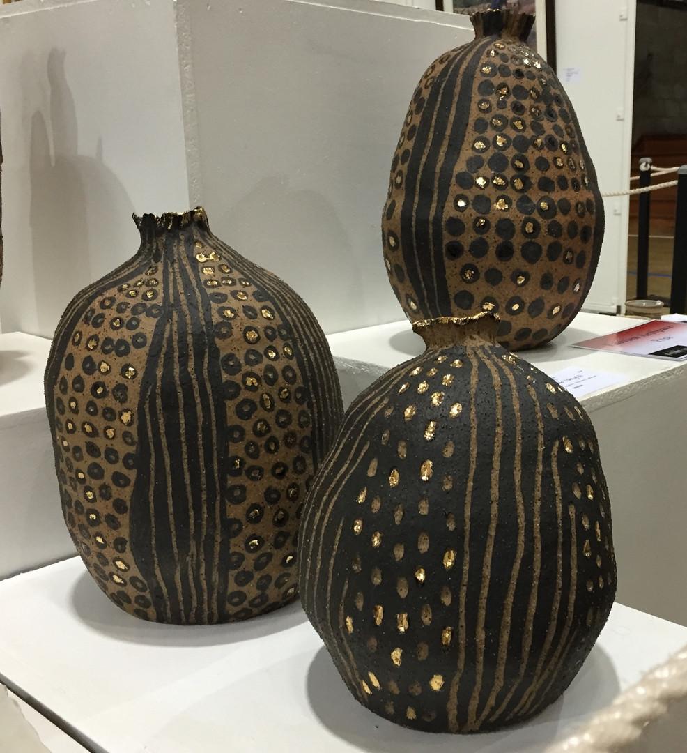 "2016 Fairview ArtSpace Prize ""Pods"" Set of 3"", Prue Cullen"