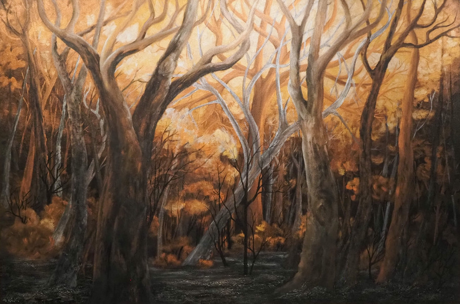 """2021 Peabody Wilpinjong Prize for Hanging Art winner - Eleanor Anson, """"Aftermath"""""""