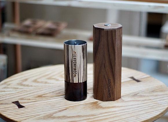 GAWOODY Power kit for Comandante Coffee Grinder - walnut wood
