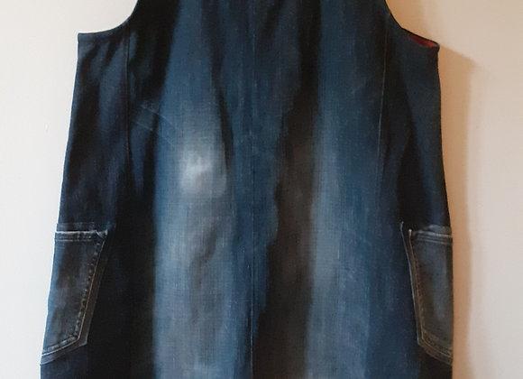 Robe Trapèze (L) en jean bleu foncé