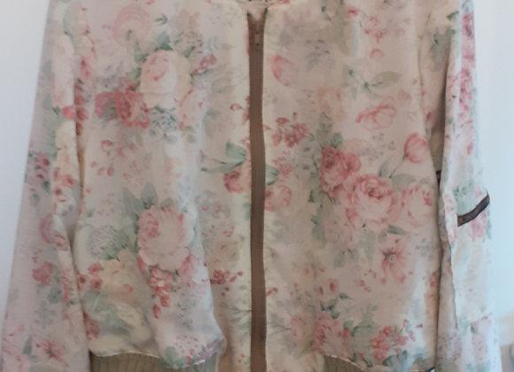 Veste 'Bomber' legere - florale - coton