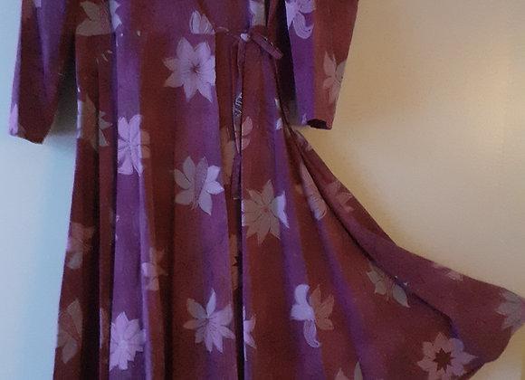 Robe longue femme, en style portefeuille