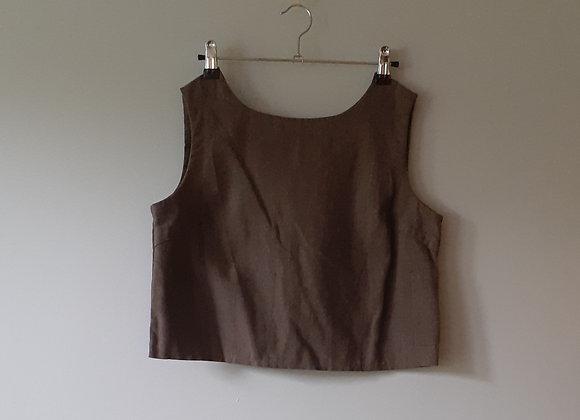 Top / haut courte femme (S) coton recyclé