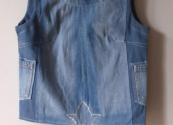 Box top jean (S) bleu delavé