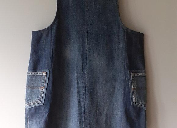 Robe salopette femme, jean recyclé