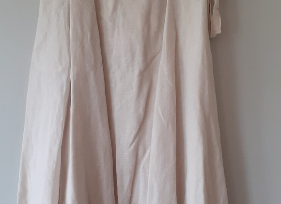 de Jupe longue portefeuille en coton legere uni