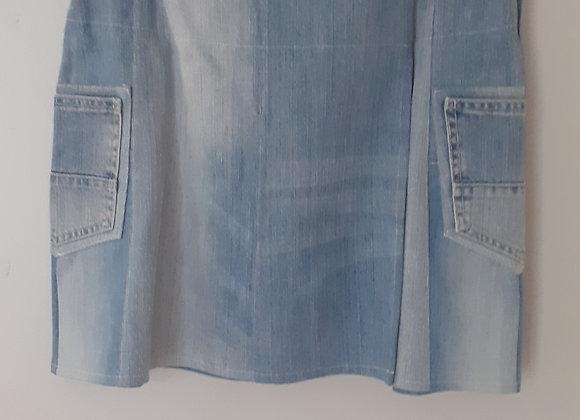 Jupe jean (L) portefeuille bleu clair delavé
