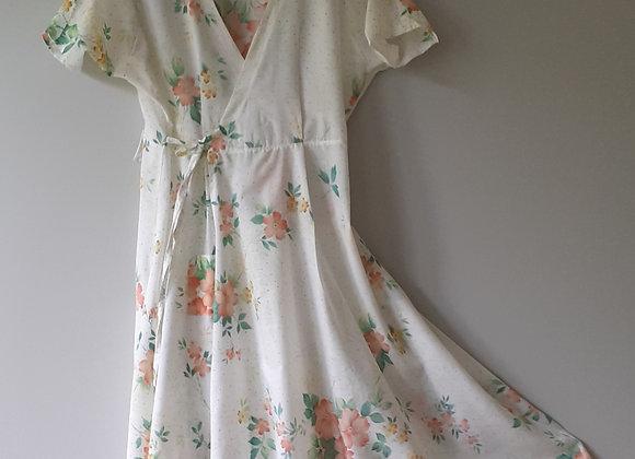 Robe longue femme, tissu recyclé