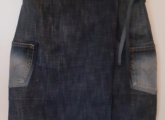 Jupe jean bleu/noir foncé  (S) portefeuille