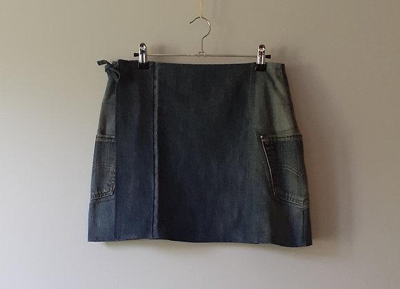 Jupe portefeuille en Jean recyclé