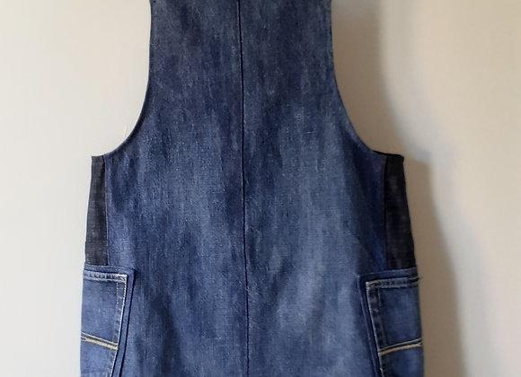 Robe salopette (S) jean bleu foncé delavé
