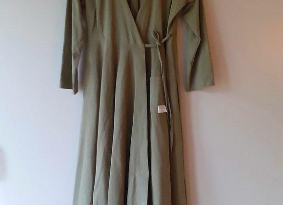 Robe longue portefeuille femme, en coton