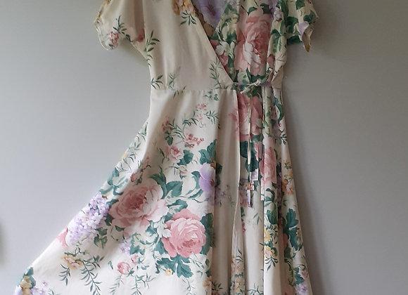 Robe longue femme (M) tissu recyclé