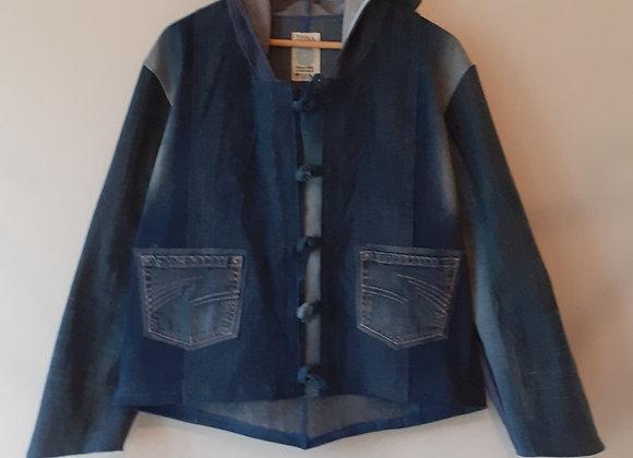 Veste à capuche en jean recyclé