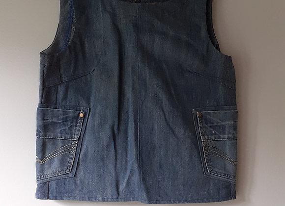 Box top jean (M) bleu delavé