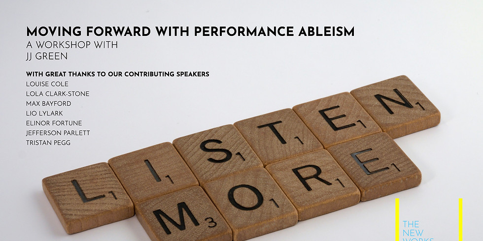 A Workshop Recording: Moving Forward With Performance Ableism with JJ Green