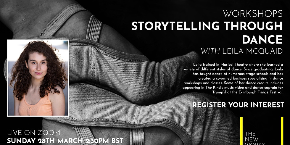 The New Works Playhouse Workshops: Storytelling Through Dance with Leila McQuaid
