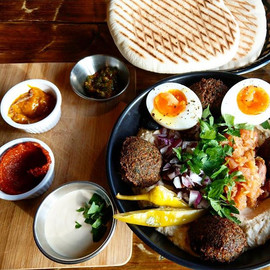Foul medames_ Middle Eastern dish with h