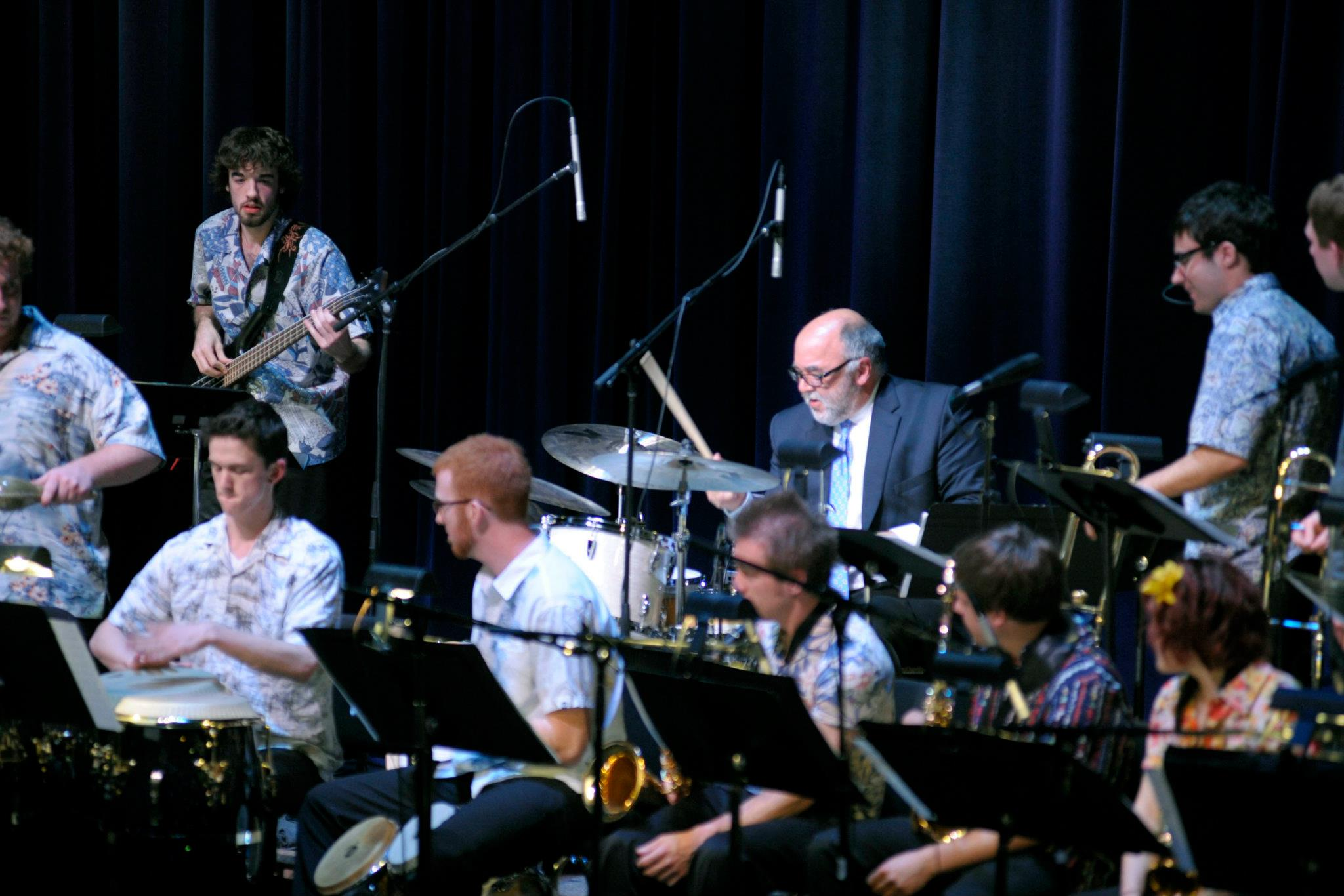 Sean performing with Peter Erskine