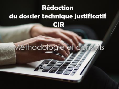 Un guide méthodologique pour la rédaction des dossiers CIR