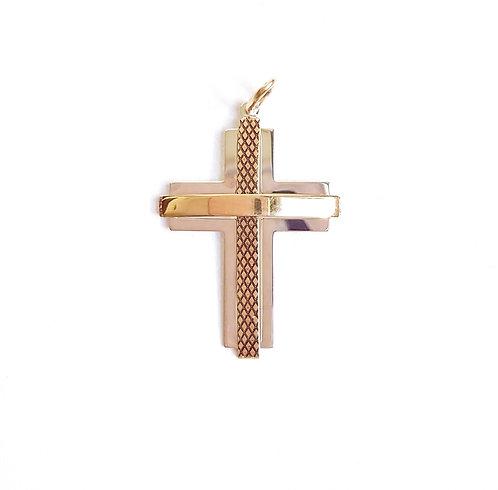 Pingente cruz masculina