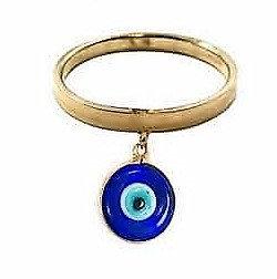 Anel com olho grego de 10mm
