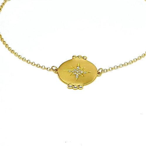 pulseira Dots com estrela de brilhantes