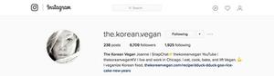 Korean Vegan Instagram