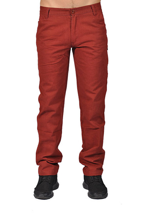 Dirty Robbers Men's ZipUpwithButtonClosure Casual Long Pants