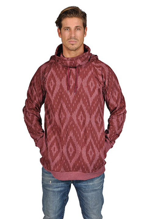ARSNL Mens Printed Hooded Turtle Neck Pullover Sweater