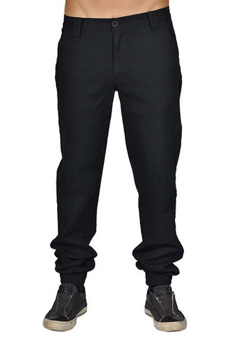 Mens Casual Zip Fly Button Closure  5 Pocket Joggers