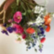 Duurzame zijdebloemen Veldbloemen Dahlia's Rieten draagmand