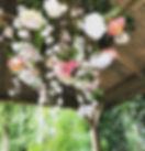 Bloemengordijn Rozen Veldbloemen wit roze