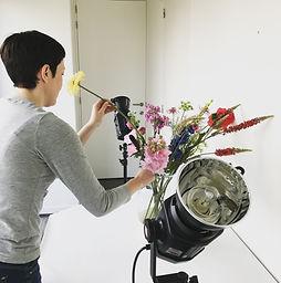 Kirsten Blom Duurzaam boeket zijdebloemen Veldbloemen Dahlia's Plukboeket Photoshoot