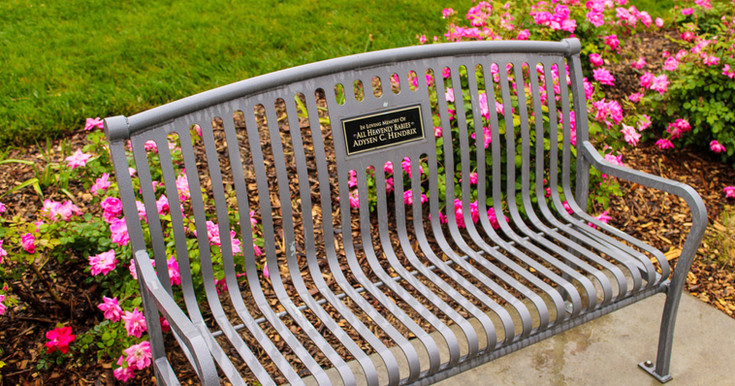 Bench dedicated to All Heavenly Babies