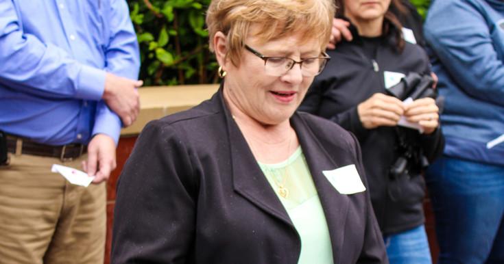 Diane Krieser, President of Heartfelt, leads the remembrance
