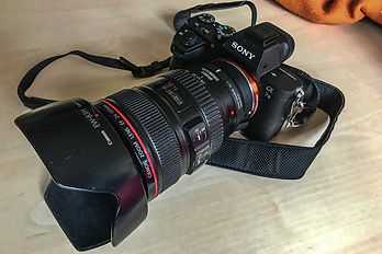 Sony A7 MkII ave Canon EF 24-105 f/4 L IS USM sur MC11
