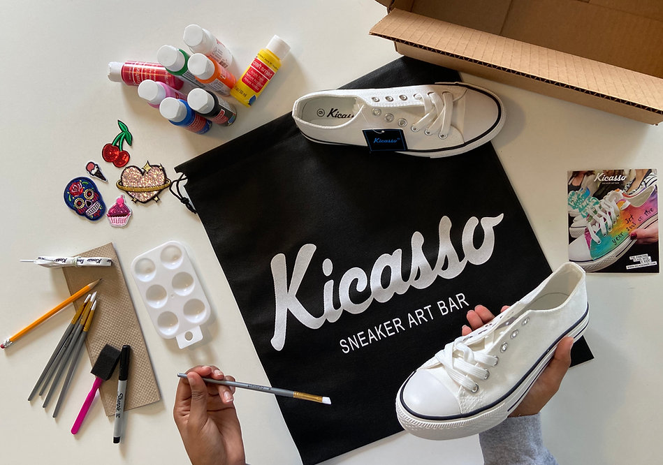 The at home sneaker art kit. Kicasso In A Box.