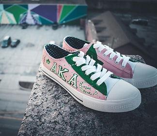 Custom Sorority Sneaker Art