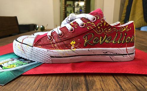 Custom sneaker by Kicasso Sneaker Art Bar