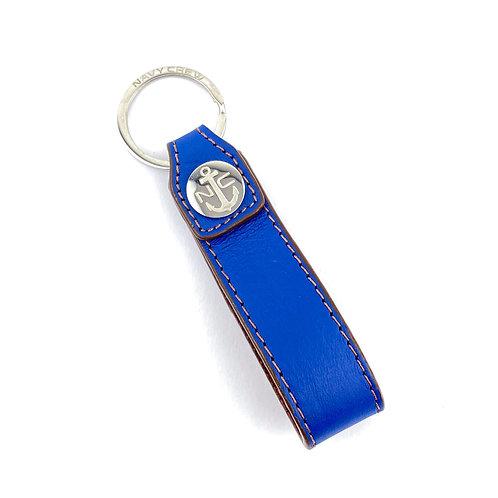 Llavero Piel ( Azul/Marron )