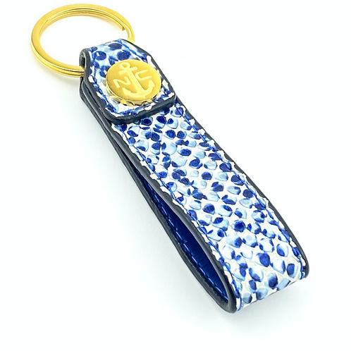 Llavero Piel ( Escamas Azul )