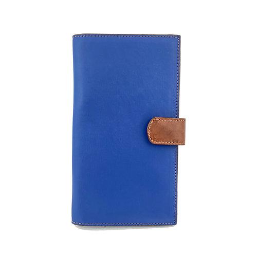 Porta Pasaporte Coral (Azul-Marron)