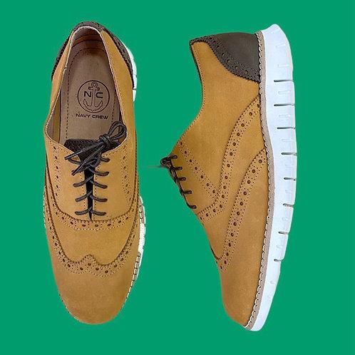 Zapato Oxford Camel-Marron