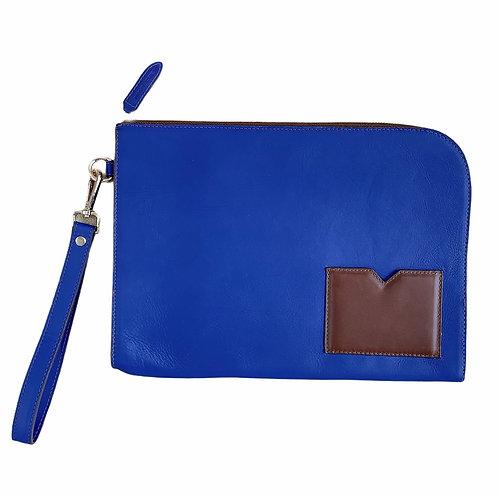 Porta Documentos Azul-Marron