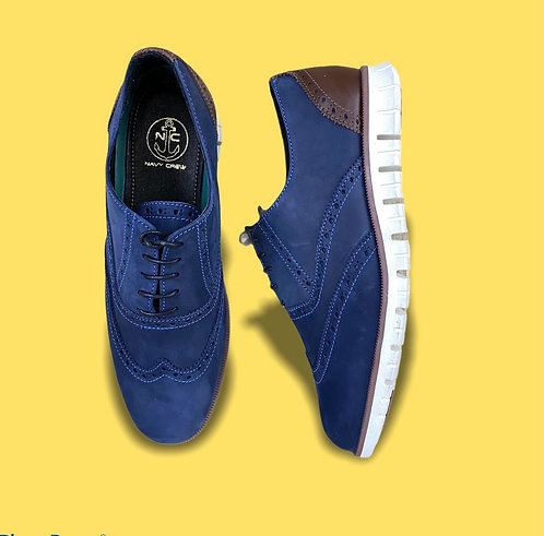 Zapato Oxford Azul