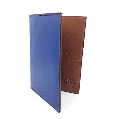 Porta Pasaporte LUX (Azul/Marron)